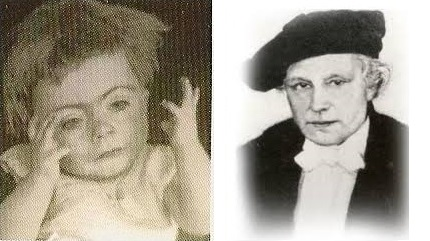 <p>On the left is the first known photograph of a child with Cornelia de Lange. &nbsp;On the right is Professor Cornelia de Lange who described the syndrome in 1933.</p>